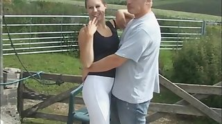 Quickie outdoors shafting crumbs with cum on gut for Masie Dee