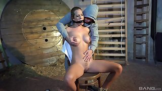 Tight amateur chick really duteous in scenes of maledom