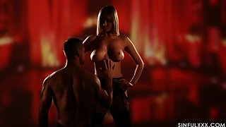 Erotic pussy with an increment of ass fucking with stunning blondie Venera Maxima