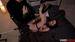 Kinky BDSM scene surrounding Sasha Sparrow's nuisance penetrated by a bonking tool GP1254