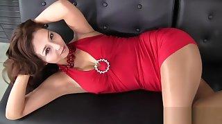Sexy asian grown up is doing sport in too short minidress! enjoy hot upskirt!