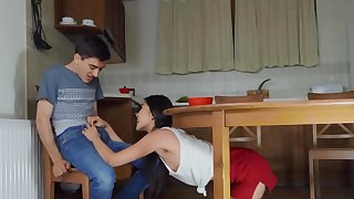 Jordi El Nino Polla has sexual connection with flat Asian Katana in the scullery