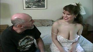Tessa with a grey fart - big mammaries