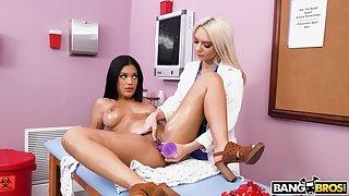 Nurse gets presage with younger lesbian patient
