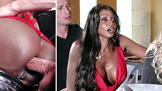 Bartender banged buzzed women exasperation gender in 3some