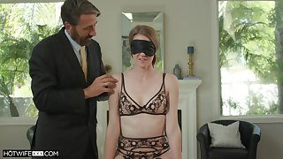 Ashley Lane is home alone so she decides to fuck with her lover all day