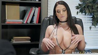 Angela White enjoys sucking stranger's dick like tomorrow never comes