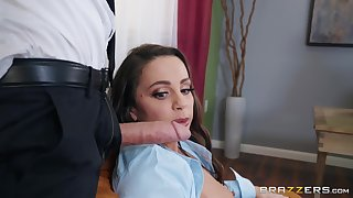 Abigail Mac blows every inch of stranger's hard dick before fuck