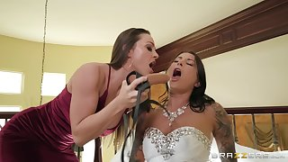 Abigail Mac prefers good fucking with her friend with a long strapon