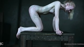 Skinny Alice plays submissive in kinky sexual play