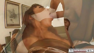 Spill surprise as A she's fucked in the ass