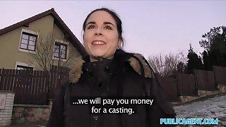 Pen up Agent Spanish Student fucks for platoon cash