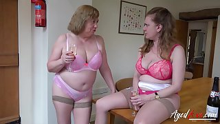 A handful of mature ladies and one huge cock to hardcore sexual video