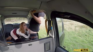 Filthy ginger sinner Lenina Crowne gives it up approximately her driver