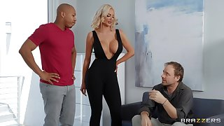 Stygian wood gives sultry blonde bombshell Nicolette Shea what she needs