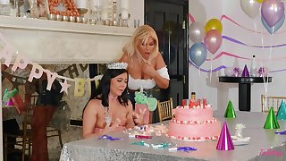 Stunning women quota birthday pleasures fucking with toys