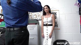 Rivet guard can't resist the loss-leader to fuck shoplifting milf Artemisia Love