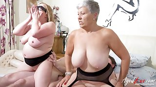 AgedLovE Domineer British Matures Hard Group Making love