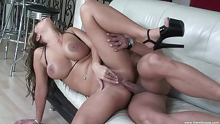 Quite a pleasure for the busty MILF to try anal on touching such scenes