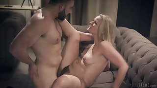 Lisey is curvaceous with her married neighbor and wants to fuck him badly