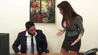 Sexy milf boss Syren De Mer exploits employee be worthwhile for dick hd
