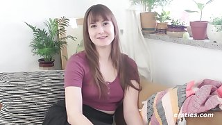 Unrestricted Amateur Pamper Asteria Fucks Dildo With Her Untrimmed Undercover