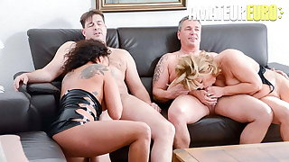Clumsy EURO Annette Liselotte & Nicole E. In Hot 4some Game