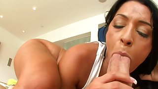 Hot Brazilian milf places a cock inside her mouth and also her cunt